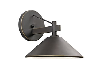 Kichler Lighting Ripley 40W 3-Light Outdoor Wall Lantern in Olde Bronze KK49060OZ