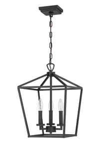 Park Harbor® Hillpoint 60W 3-Light Pendant in Black PHPL6483BK