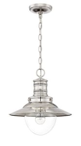 Park Harbor® Ellwood 13-1/2 in. 100W 1-Light Medium Pendant in Polished Nickel PHPL6371PN