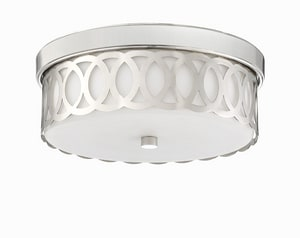 Park Harbor® Spotswood 60W 1-Light Flush Mount Ceiling Fixture in Polished Nickel PHFL4161PN