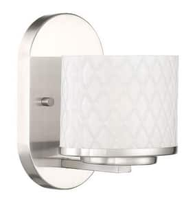 Park Harbor® Sanderling 7-1/8 in. 3.5W 1-Light LED Bath Light in Brushed Nickel PHVL3141BN