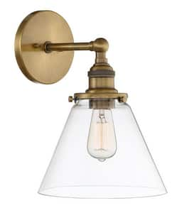 Park Harbor® 11-1/8 in. 60W 1-Light Wall Sconce in Aged Brass PHWL3321AGBR