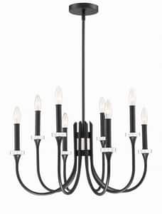 Park Harbor® Blackpool 60W 8-Light Chandelier in Black PHHL6448BK