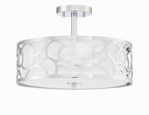Park Harbor® Spotswood 15 in. 60W 3-Light Semi-Flush Mount Ceiling Fixture in Polished Chrome PHSFL4603PC