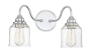 Park Harbor® Centerville 9-1/8 in. 100W 2-Light Bath Light in Polished Chrome PHVL3052