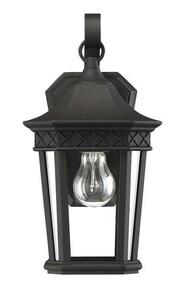 Park Harbor® Foxfield 13-1/8 in. 100W 1-Light Outdoor Wall Sconce in Black PHEL5110BLK