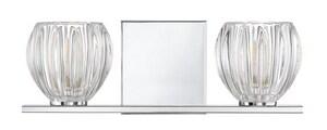 Park Harbor® Swans Point 5 in. 5W 2-Light LED Bath Light in Polished Chrome PHVL3092