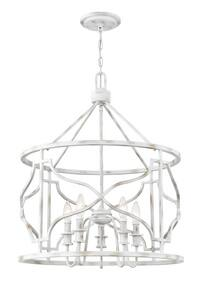 Park Harbor® Del Ray 22-1/4 in. 60W 5-Light Pendant in Weathered White PHPL6345WW