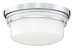 Park Harbor® Ewell 60W 2-Light Flush Mount Ceiling Fixture in Polished Chrome PHFL4122PC