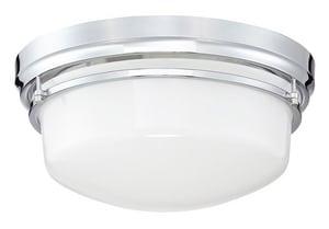 Park Harbor® Ewell 60W 3-Light Flush Mount Ceiling Fixture in Polished Chrome PHFL4123PC
