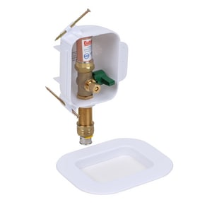 Oatey I2K® 1/4 in. PEX Press Ice Maker Outlet Box with Hammer O38333