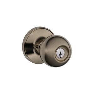 Schlage Lock Corona 620 Keyed Entry Lock in Antique Pewter SCH773411