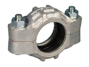 Victaulic FireLock™ Style 77 1-1/2 in. Galvanized Grooved Ductile Iron Coupling with E Gasket VDOML077GE0