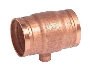 Victaulic FireLock™ Style 626 2 x 2 x 1 in. Grooved x Copper Reducing Tee VF626C00