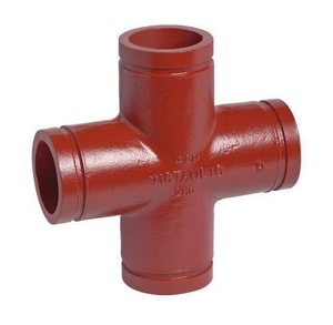 Victaulic FireLock™ Style 35-C 4 in. Grooved Ductile Iron Cross VA035PDL