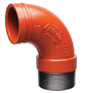 Victaulic FireLock™ Style 18 Grooved x Threaded 90 Degree Elbow VF018P00