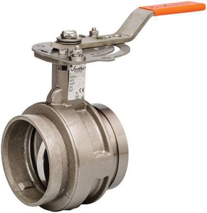 Victaulic Series 761 6 in. Ductile Iron Nitrile Gear Operator Handle Butterfly Valve VV060761XT3