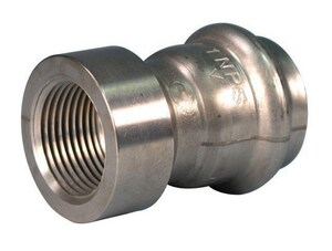 Victaulic FireLock™ Style 599 1 in. Press x Female Type E 304L Stainless Steel Adapter VF010599XE6