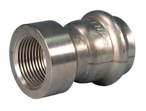Victaulic FireLock™ Style 599 1 in. Press x Female Type E 304L Stainless Steel Adapter VF599XE6
