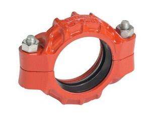 Victaulic FireLock™ Style 77 2 in. Grooved Orange Enamel Ductile Iron Coupling VL020077PO0-NR