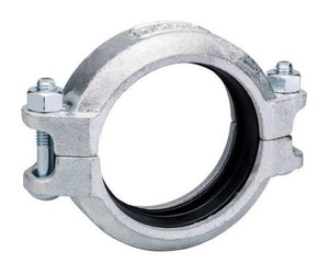 Victaulic FireLock™ Style 75 4 in. Grooved Galvanized Ductile Iron Coupling with T-Gasket VL040075GT0