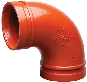 Victaulic 3-1/2 in. Grooved Painted 90 Degree Elbow VF034010P00