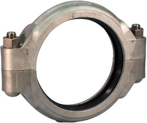 Victaulic FireLock™ Style 77 4 in. Grooved 316L Stainless Steel Coupling with E Gasket VL040077XEX