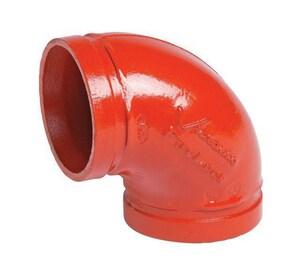 Victaulic FireLock™ Style 001 6 in. Orange Enamel Ductile Iron 90 Degree Sprinkler Elbow VDOMF060001P00