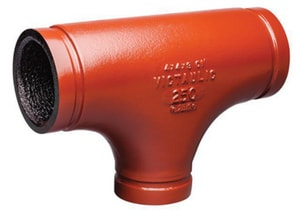 Victaulic FireLock™ Style 25-C 12 x 12 x 6 in. Grooved Ductile Iron Reducing Tee VAG58025PKL-NR