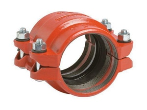 Victaulic FireLock™ Style 9 12 in. Straight Painted Ductile Iron and Plastic Coupling with T Gasket VL12095NPT0-NR