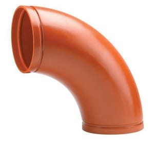 Victaulic FireLock™ Style W100 20 in. Grooved Advanced System Painted 90 Degree Long Radius Elbow VW200100P00