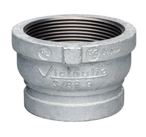 Victaulic FireLock™ Style 80 4 in. Grooved x FIP Straight Hot Dipped Galvanized Ductile Iron Thread Adapter VF040080G00-NR