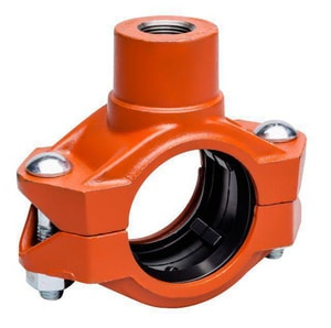Victaulic FireLock™ Style 72 3 X 3/4 Painted Female Iron Pipe Out Coupling E Gasket 72 VDOMLC37072PEF