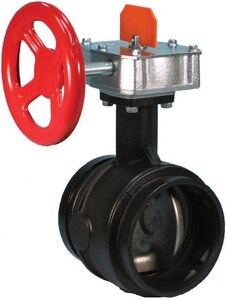 Victaulic FireLock™ Style 705 4 in. Grooved 300# Ductile Iron Butterfly Valve VDOMV040705200