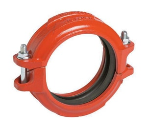 Victaulic FireLock™ Style 005 3 in. Grooved Straight Painted Rubber Rigid Coupling with E Gasket VDOML030005PE1