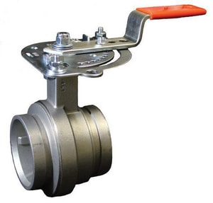 Victaulic Series 461 3 in. Stainless Steel EPDM Lever Handle Butterfly Valve VV030461XE2-NR