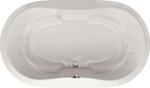 Hydro Systems Savannah 66 x 44 in. Acrylic Bathtub Only with Center Front Drain in White HSAV6644ATO