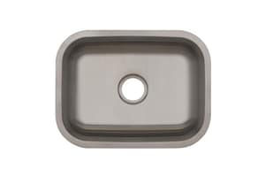 PROFLO® Plomosa 23-3/8 x 17-3/4 in. No Hole Stainless Steel Single Bowl Undermount Kitchen Sink PFUC301A6