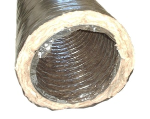 Royal Metal Products 8 in. x 25 ft. Polyester and Polyethylene R6 Flexible Duct Bag in Black R904R68