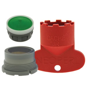 Neoperl Replacement Cache Aerator Kit with 1.5 gpm Junior Perlator Aerator, Key and Washer for Delta in Dark Grey N1304810