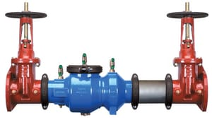 Wilkins Regulator Model 350AR Ductile Iron Flanged 175 psi Backflow Preventer W350AROSYB