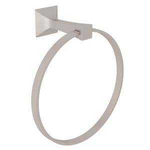 ROHL® Vincent Towel Ring in Satin Nickel RVIN4STN