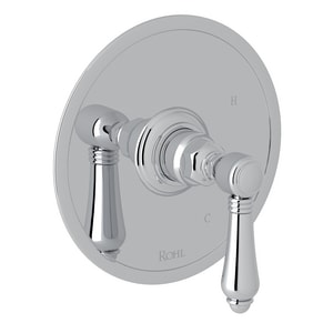 ROHL® Italian Country Bath Tub and Shower Pressure Balancing Valve Trim with Metal Single Lever Handle (Less Diverter) RA1410LM
