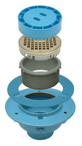 Zurn 6 x 2 in. Cast Iron Push-On Rough-In Cover Floor Drain with Outlet ZLCFR06C2PRC