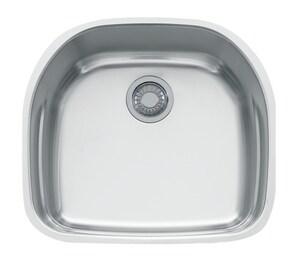 Franke Prestige 22-1/4 x 19-7/8 in. No Hole Single Bowl Undermount Kitchen Sink in Stainless Steel FPRX11021