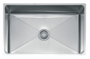 Franke Professional Series 31-1/2 x 19-1/2 in. No Hole Single Bowl Undermount Kitchen Sink in Stainless Steel FPSX110309
