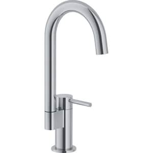 Franke Manhattan 1.75 gpm 1-Hole Swivel Kitchen Sink Bar Faucet with Single Lever Handle in Satin Nickel FFFB2980