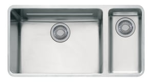 Franke Consumer Products Kubus 33-1/16 x 17-15/16 in. Stainless Steel Double Bowl Undermount Kitchen Sink FKBX160