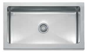Franke Manor House 36 x 20-7/8 in. No Hole Single Bowl Apron Front Kitchen Sink in Stainless Steel FMHX71036