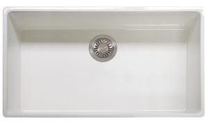 Franke Consumer Products Farm House 1-Bowl Kitchen Sink in Fireclay White FFHK71036WH